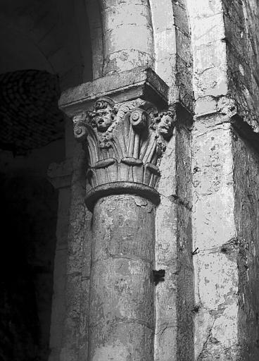 Chapiteau de la nef côté sud, troisième pile, face ouest