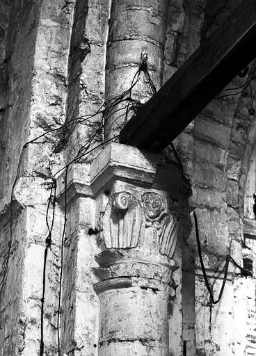 Chapiteau de la pile sud-est de la croisée, face ouest