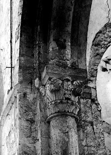 Chapiteau de la nef côté sud, deuxième pile, face est