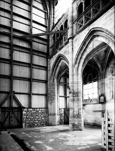 Nef, grandes arcades ouest, côté nord