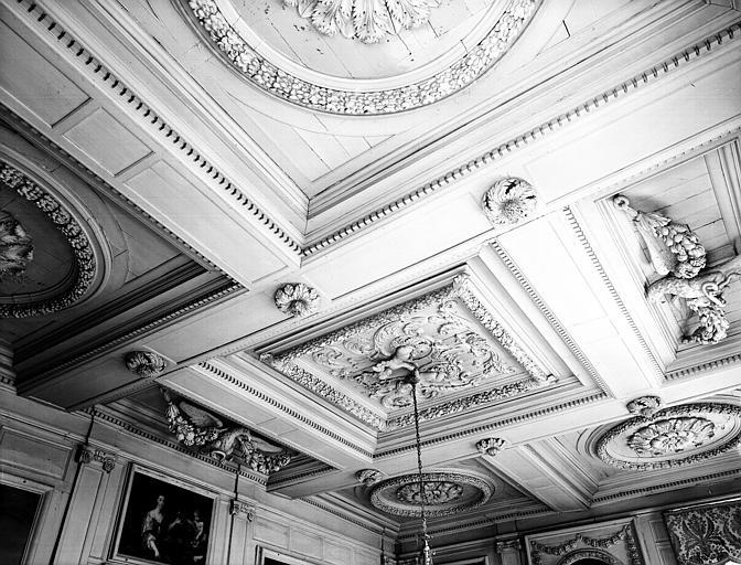 Grand Salon du rez-de-chaussée : plafond