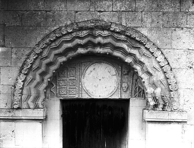 Portail du collatéral sud : archivoltes