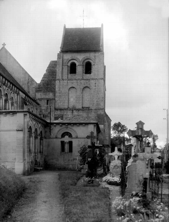 Clocher est et partie nord de l'abside : couvertures provisoires