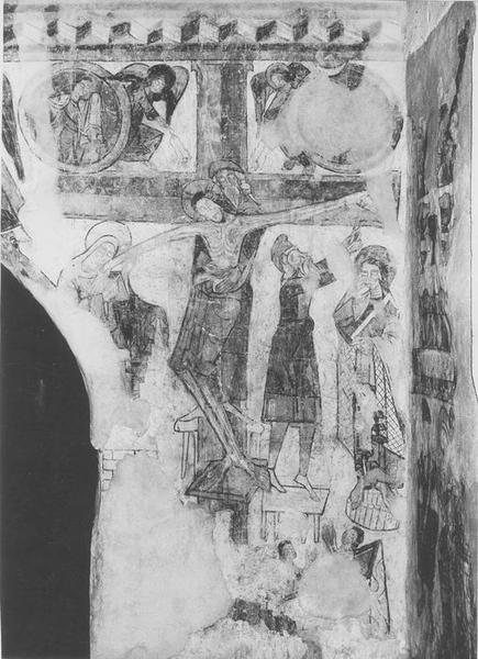 Peintures monumentales : Christ bénissant, Déposition de Croix, Saints et saintes
