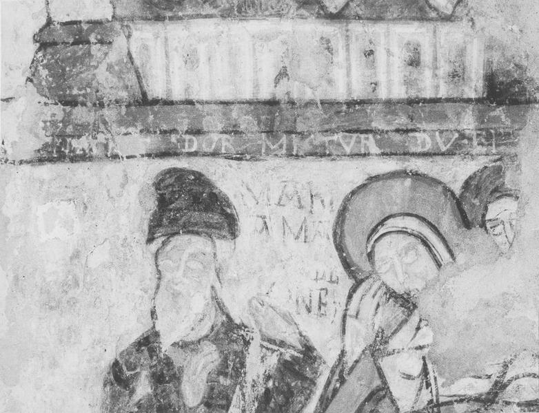 peintures monumentales, détail: les saintes femmes au sépulcre