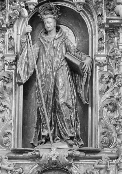 Retable du maître-autel, partie centrale : niche avec statue de saint Romain
