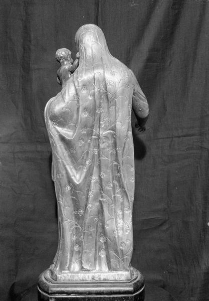 Statuette en argent : Vierge à l'Enfant, de dos