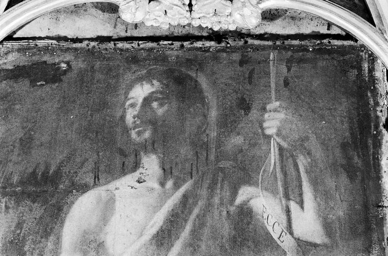 Tableau : saint Jean-Baptiste, détail du buste