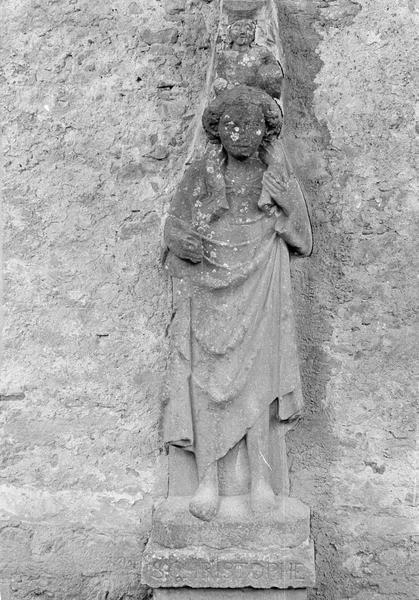 Bas-relief (mur sud) : saint Christophe, de face