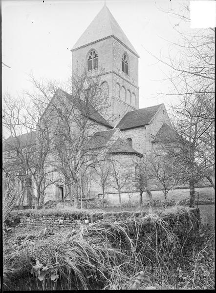 Ensemble sud-est avec abside et clocher