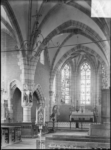 Intérieur : choeur depuis la croisée du transept