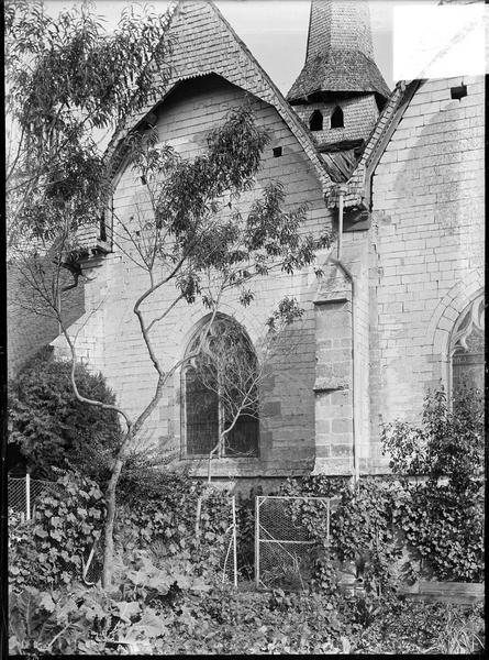 Ensemble nord, vue partielle, transept double et clocher