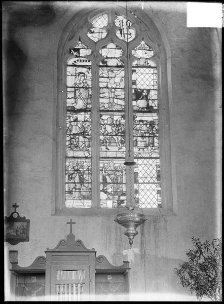 Vitrail : baie (5) de la Crucifixion et saint Barthélémy