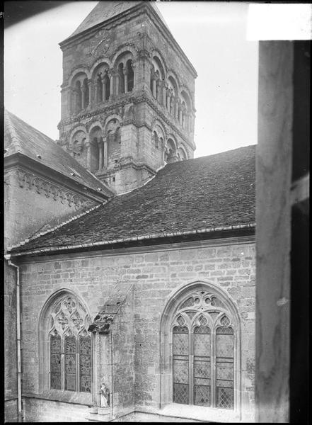 Clocher, croisée du transept nord
