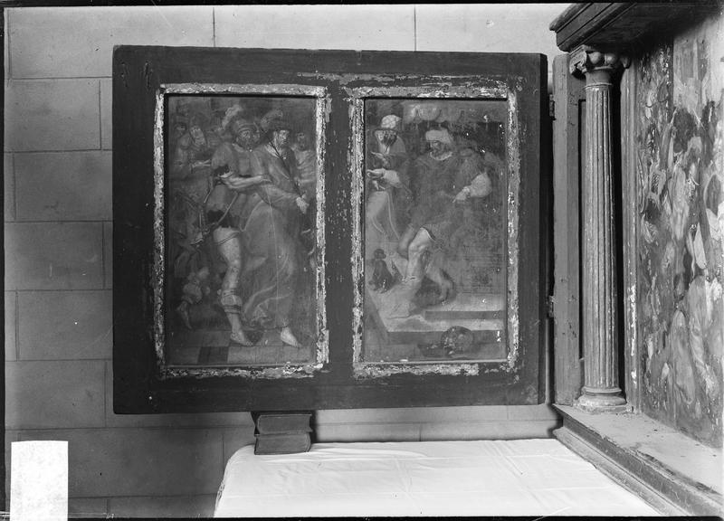 Triptyque : la comparution du Christ devant Pilate