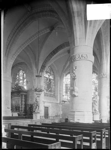 Intérieur : choeur depuis le transept sud