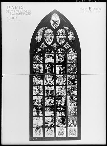 Verrière du transept droit : L'Assomption de la Vierge