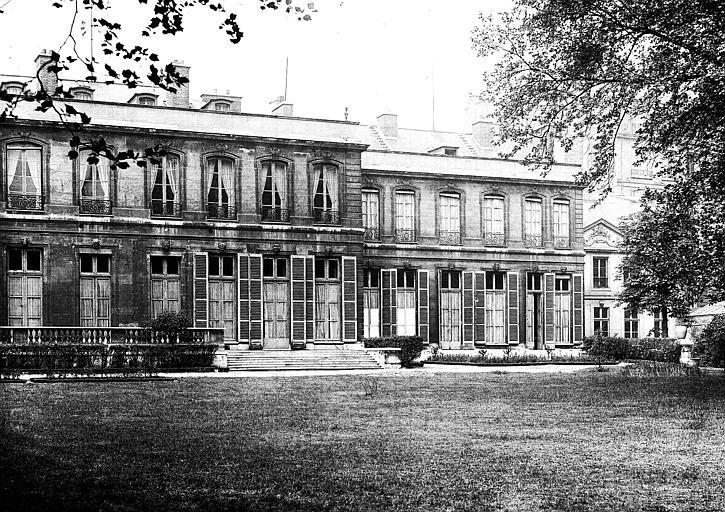 Plan de la partie centrale et ouest de la façade sur jardin