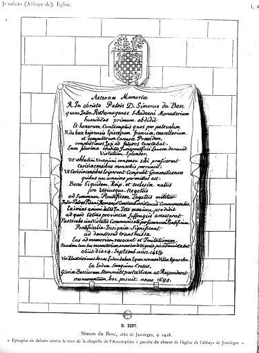 Abbaye de Bénédictins Saint-Pierre ; dite Abbaye de Jumièges.