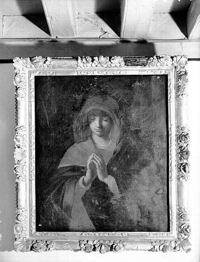 Peinture sur toile : sainte en prière