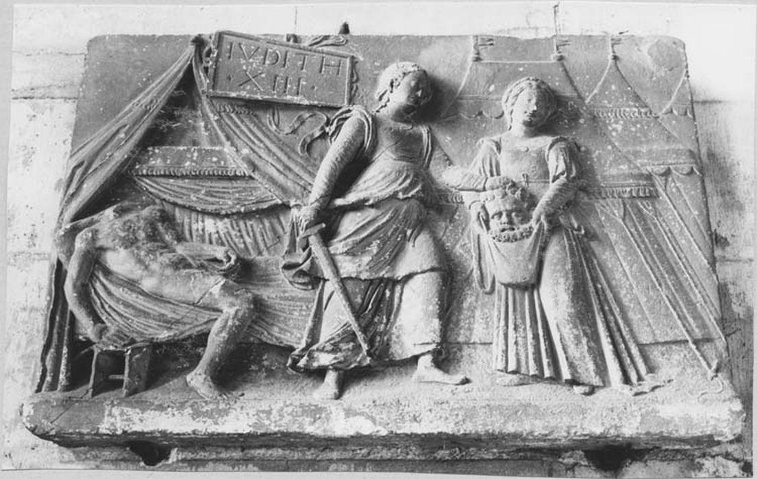 Bas-relief : Judith et Holopherne