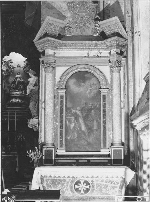 Autel, retable, tableau : le Martyre de saint Stanislas (autel secondaire)