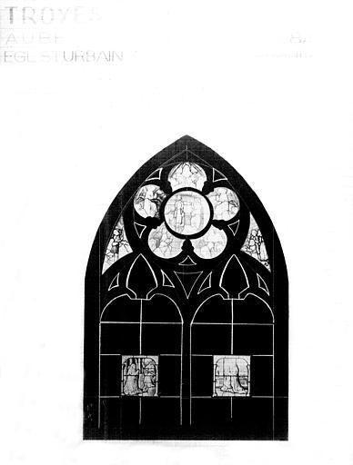 Photomontage de vitrail, baie 8A : Adoration de Jésus, état après  restauration