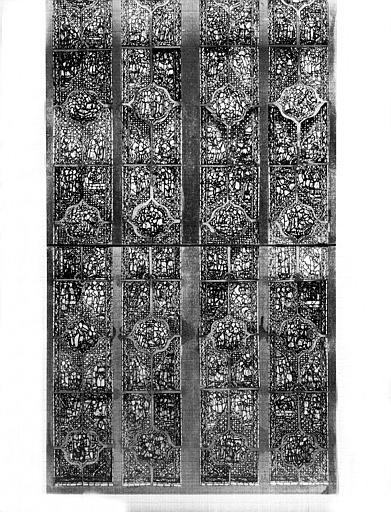 Vitrail, baie B, Histoire de Samuel : partie inférieure