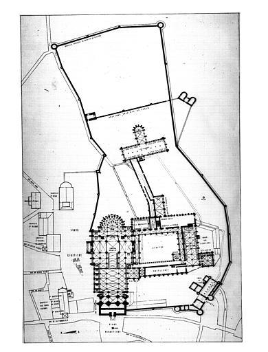 Plan d'ensemble de l'abbaye
