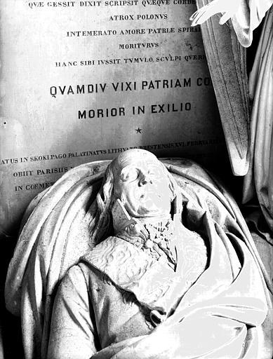 Monument funéraire de Niemcewicz et Kniaziewicz : gisant en marbre  de Niemcewicz
