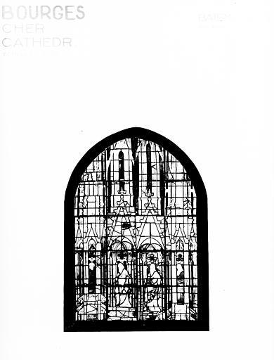 Photomontage de vitrail : baie MA, apôtres et prophètes