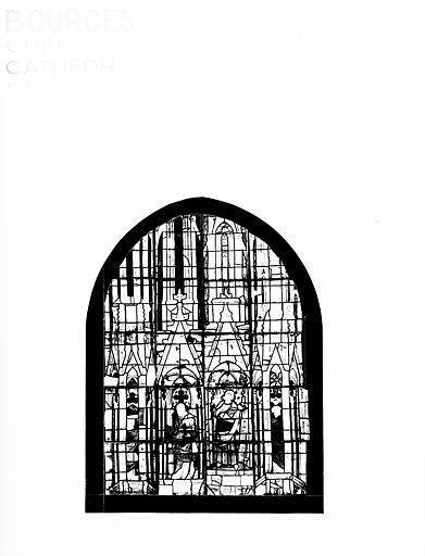 Photomontage de vitrail : baie MB, apôtres et prophètes