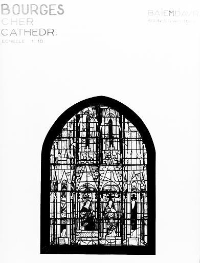 Photomontage de vitrail : baie MD, apôtres et prophètes
