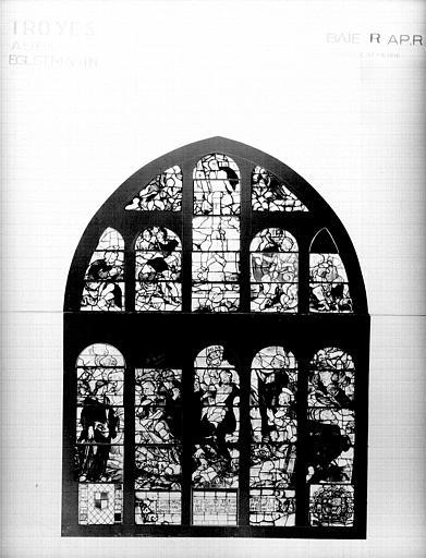 Photomontage de vitrail, baie R : état après restauration