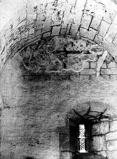Coupole du clocher central. Nef, première travée, mur nord