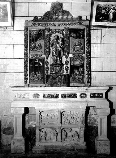 Ensemble des retables et autel nord : Histoire de saint Joseph