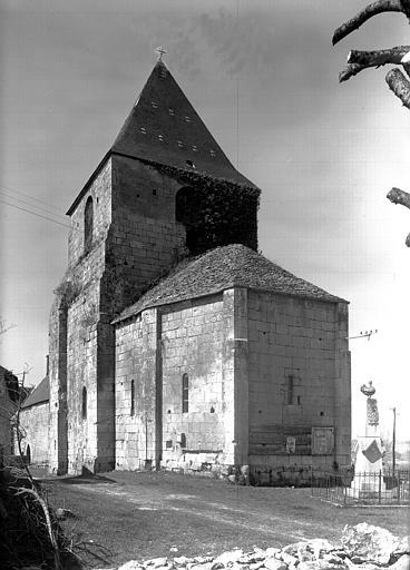 Ensemble sud-est de l'abside et du clocher