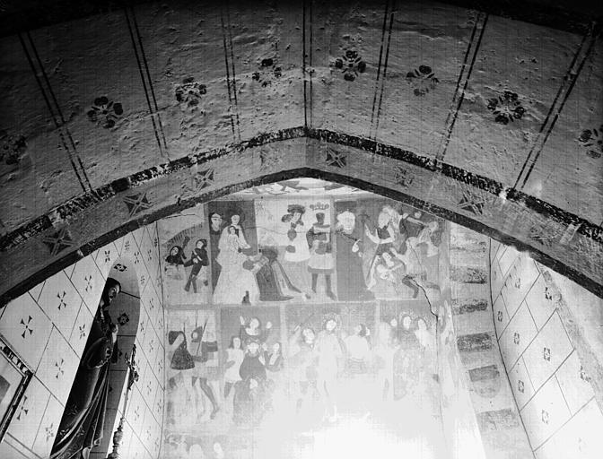 Peintures murales de la voûte : Adoration des Mages et Scènes de  la Passion