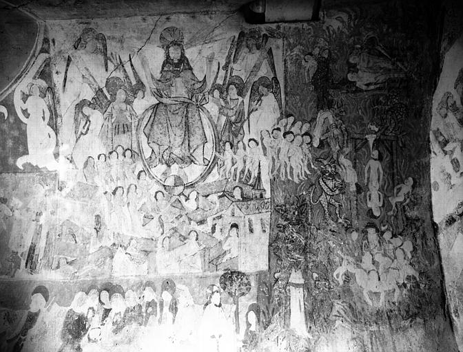 Peinture murale dans la chapelle : le Jugement dernier