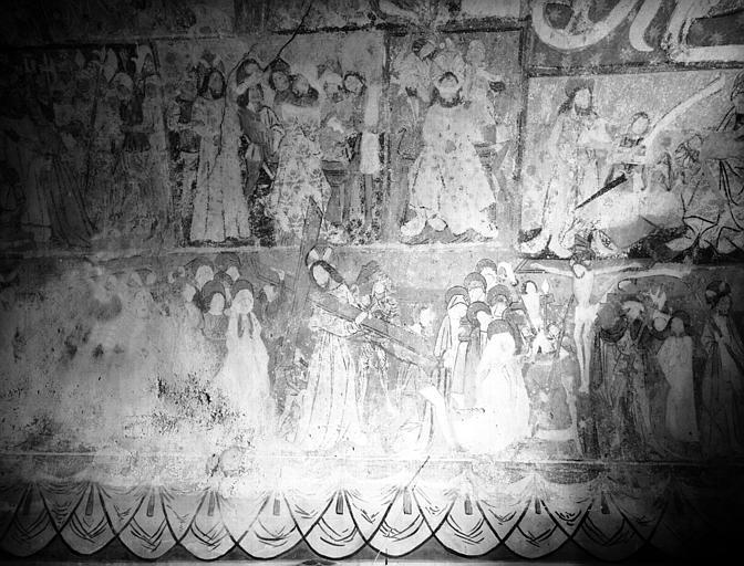 Peinture murale dans la chapelle : Scènes de la Passion