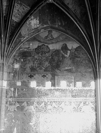 Peintures murales de la chapelle : Paradis Terrestre et Chute  d'Adam et Eve