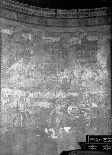 Choeur : restes de peintures murales