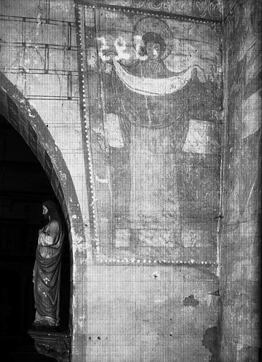 Côté sud du mur de l'arc triomphal, peinture murale : sainte  Véronique