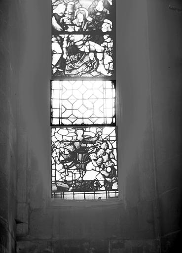 Vitrail : la Charité de saint Martin