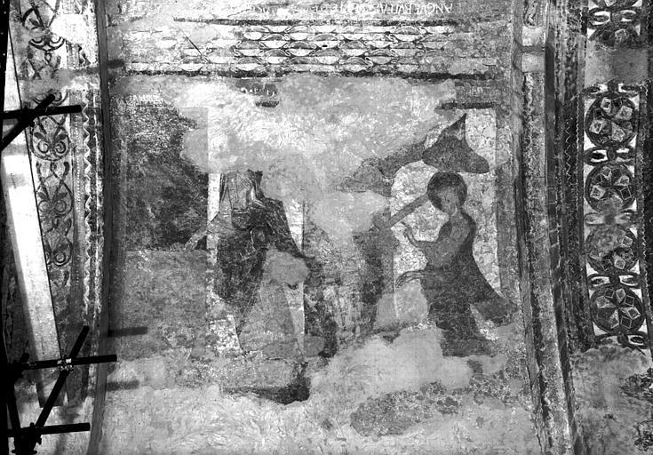 Voûtes du croisillon nord, partie est, restes de peintures murales