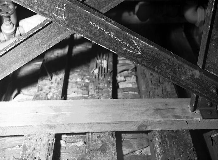 Plafond de la chaufferie