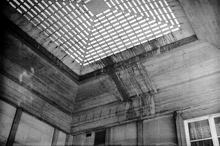 Plafond à verrerie de la cour d'entrée