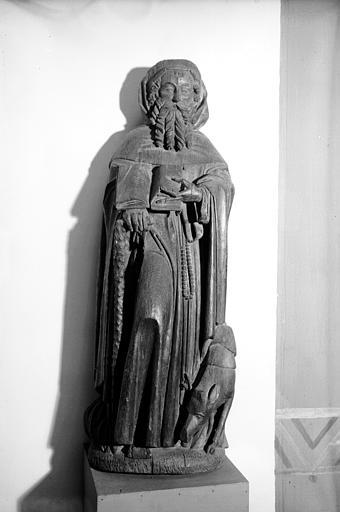 Statue en bois : saint Antoine