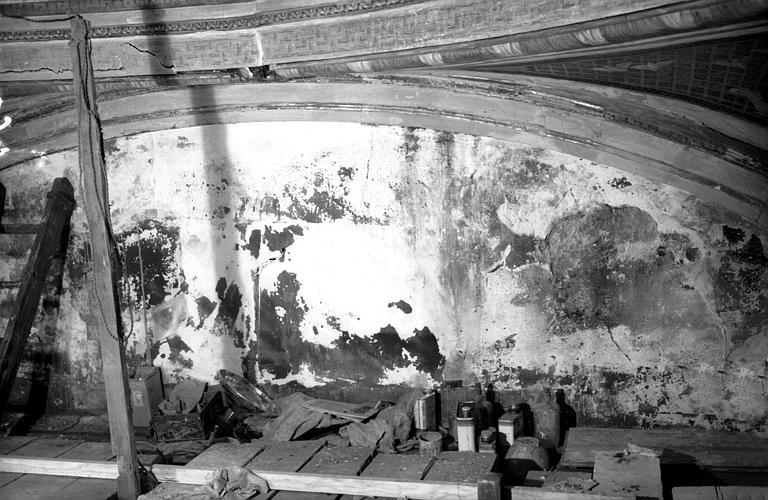Décapage du plafond de la Chambre de Sully