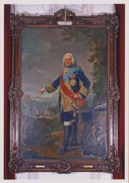 tableau et son cadre : François de Chevert, lieutenant-général des armées du roi, vue générale